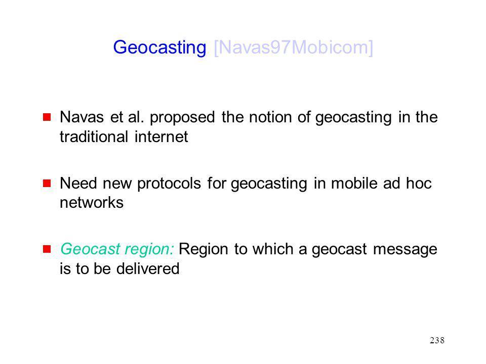 Geocasting [Navas97Mobicom]